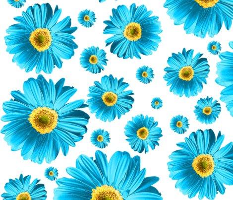 Blue Daisies Wallpaper Ophelia Spoonflower