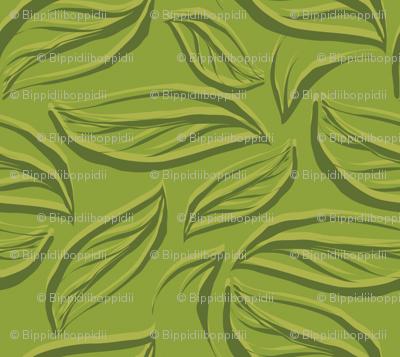 Green leaves breeze