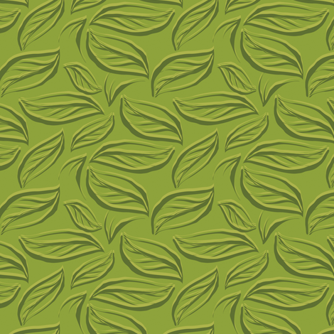 Green leaves breeze fabric by bippidiiboppidii on Spoonflower - custom fabric