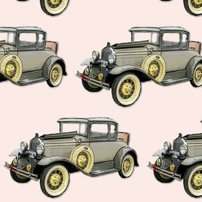 Pink Vintage Car 13