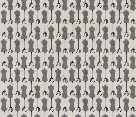 Julie's Fashion Mannequins fabric by juliesfabrics on Spoonflower - custom fabric