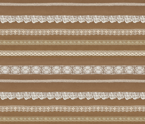 brown paper lace fabric by emiliejayne on Spoonflower - custom fabric