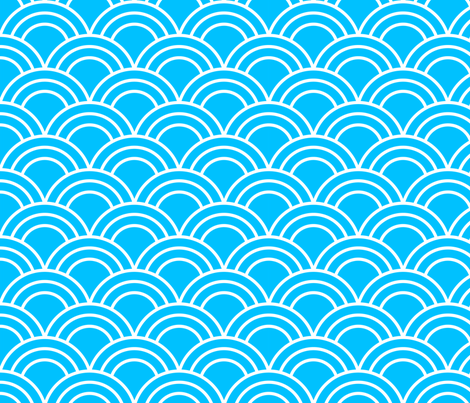 Light Blue Scales fabric by nixongraphix on Spoonflower - custom fabric