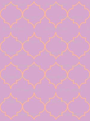 turkish tile (tangerine, lilac)