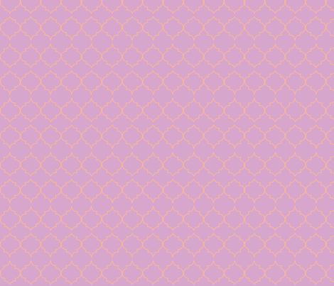 turkish tile (tangerine, lilac) fabric by pattyryboltdesigns on Spoonflower - custom fabric