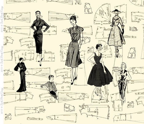 FashionPattern fabric by sarahgarrett on Spoonflower - custom fabric