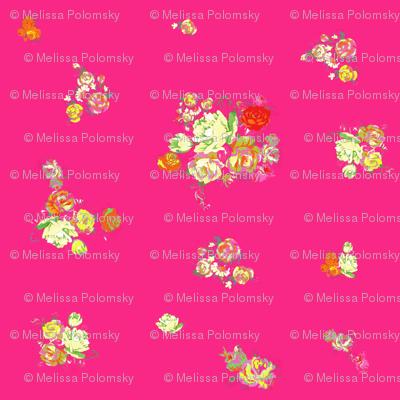 Elena's Floral // Hot Pink