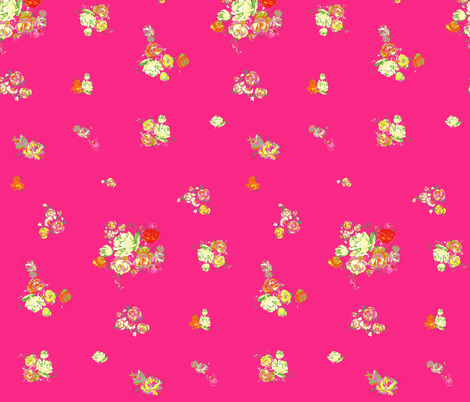 Elena's Floral // Hot Pink fabric by theartwerks on Spoonflower - custom fabric