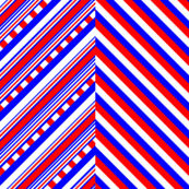 Red White Blue Crisscross