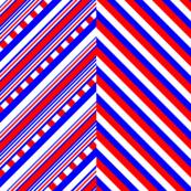 Red White Blue Crisscross