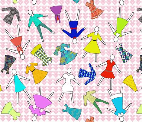 I love fashion by Su_G fabric by su_g on Spoonflower - custom fabric