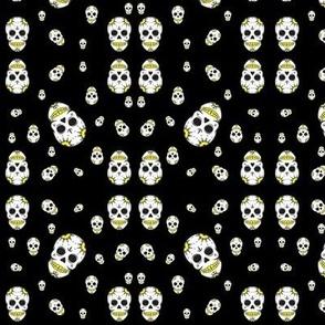 Yellow Sugar Skulls