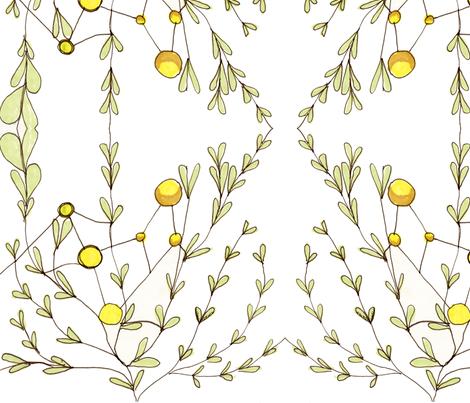 sun_molecule_plant fabric by hannah_jones on Spoonflower - custom fabric