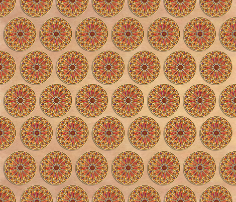 Stained Glass Rust fabric by ann~marie on Spoonflower - custom fabric