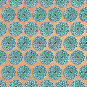 Stained Glass Turquoise