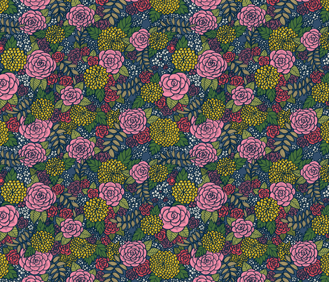 Floral 04 fabric by nikijin on Spoonflower - custom fabric