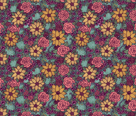 Floral 07 fabric by nikijin on Spoonflower - custom fabric
