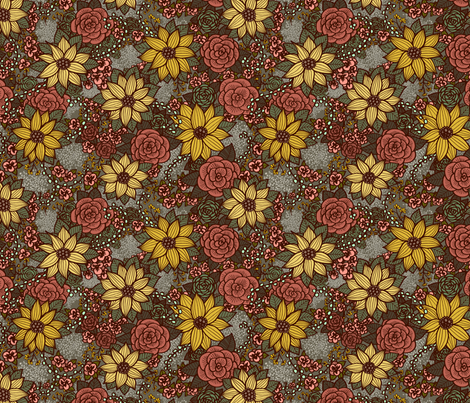 Floral 08 fabric by nikijin on Spoonflower - custom fabric