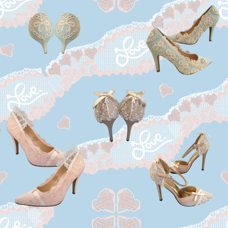 Wedding Shoes Wow Fashion fabric by house_of_heasman on Spoonflower - custom fabric