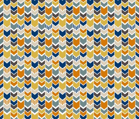 Custom Navy Yellow Chevron half scale fabric by mrshervi on Spoonflower - custom fabric