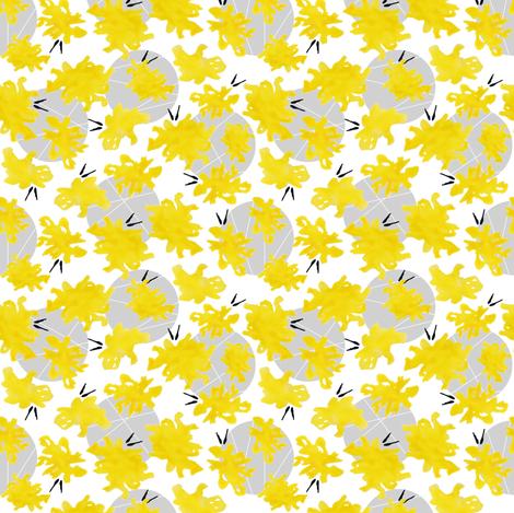 Yellow Hello fabric by sheila's_corner on Spoonflower - custom fabric