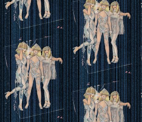 1980 disco glamour fabric by lucybaribeau on Spoonflower - custom fabric