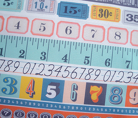 Washi Tape (Numbers) || deco stripes tickets ruler measuring asl sign language school upc codes