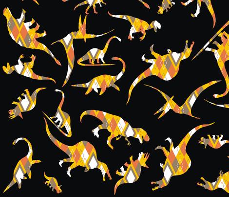 Dinorific Argyle fabric by pennyroyal on Spoonflower - custom fabric