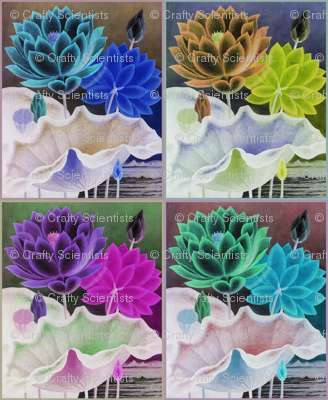 water flower quilt invert