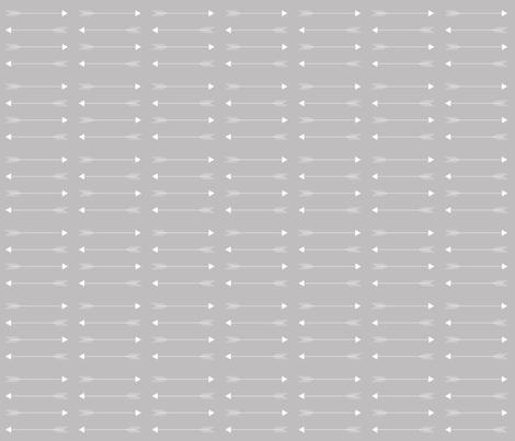 gray horizon arrow fabric by ivieclothco on Spoonflower - custom fabric