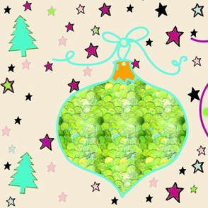 Holiday Star Ornaments and Christmas Trees