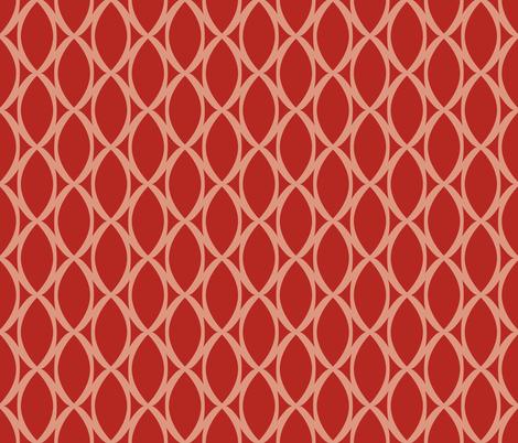 Scarlet Lattice Tie fabric by audsbodkin on Spoonflower - custom fabric