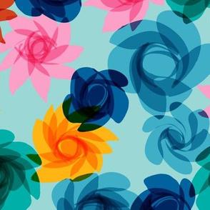 Cocktail Flowers blues-2