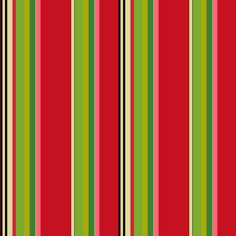 Christmas_Multi_Stripe fabric by kelly_a on Spoonflower - custom fabric