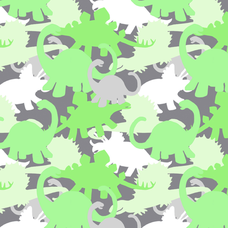 Green gray dinosaur camo design fabric for Grey dinosaur fabric