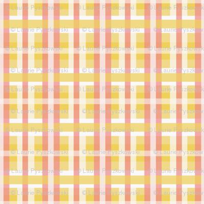 Plaid in Yellows, Whites & Pinks