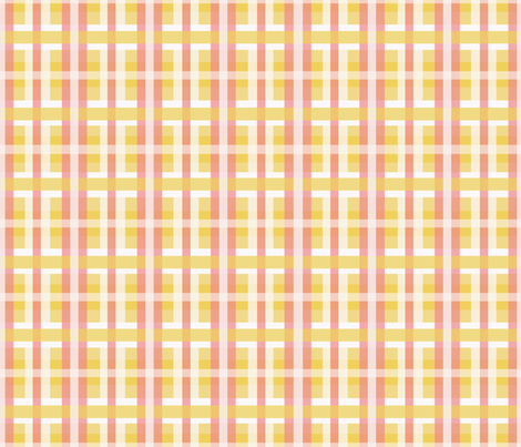 Plaid in Yellows, Whites & Pinks fabric by lauriekentdesigns on Spoonflower - custom fabric
