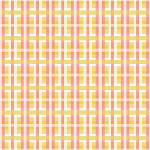 Plaid in Yellows, Whites & Pinks