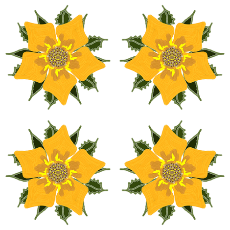 Cinquefoil fabric by ravynscache on Spoonflower - custom fabric