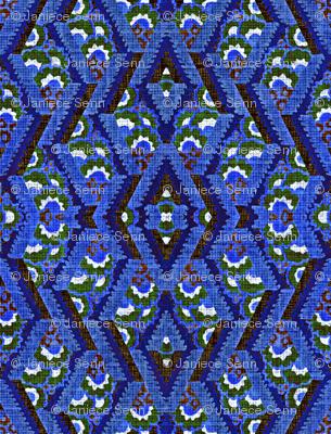 Ikat in blue