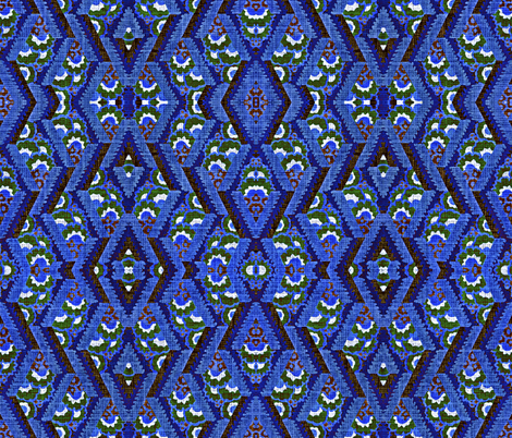 Ikat in blue fabric by whimzwhirled on Spoonflower - custom fabric