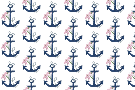 Anchor Lily fabric by haylily_ on Spoonflower - custom fabric