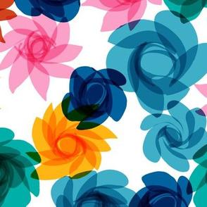 Cocktail Flowers blues-1
