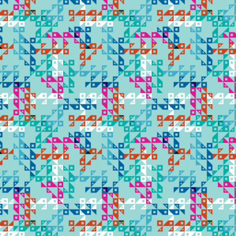 Cocktail Geo blues-1 fabric by modernprintcraft on Spoonflower - custom fabric