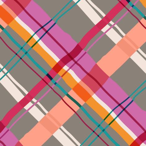 Cocktail Plad pinks-2 fabric by elizabethhalpern on Spoonflower - custom fabric