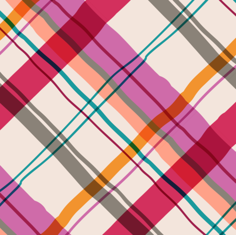 Cocktail Plaid pinks-1 fabric by modernprintcraft on Spoonflower - custom fabric