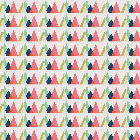 Graph Mountains fabric by amyteets on Spoonflower - custom fabric