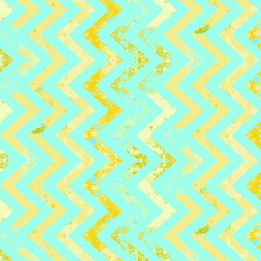 aqua and rust chevron vertical repeat