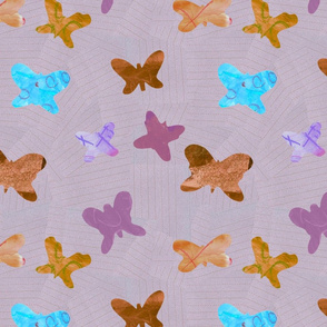 butterfly collage in Terra