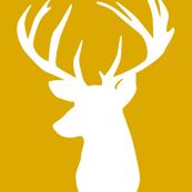 gold deer head